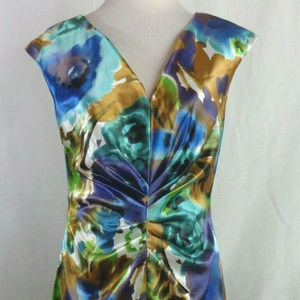 Dressbarn Collection Size 8 Ruched Floral Dress